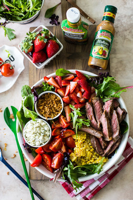 A bold blend of garlic, brown sugar, soy, citrus and Creole seasoning give this Zesty Grilled Steak Salad by The Beach House Kitchen a boost of flavor.