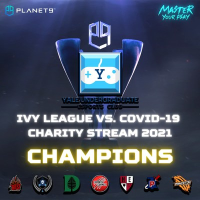 The annual Ivy League COVID-19 Charity Stream, a student-run esports tournament powered by PLANET9 serving to raise awareness and funds for the fight against COVID-19, concluded its second edition on April 24th with participation from esports clubs of all eight Ivy League universities.