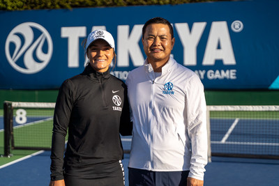 Pickleball professional, Catherine Parentaeu, joins the Takeya family in conjunction with the launch of the brand's limited edition water bottle collection