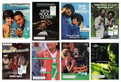 A historical compilation of menthol ads throughout the years