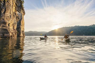 Kayaking on Summersville Lake