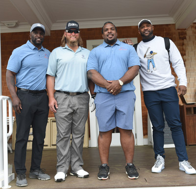 David Harris, Nick Mangold, Willie Colon, CC Sabathia at the 2021 Willie Colon Golf Outing Benefiting the Lupus Research Alliance
