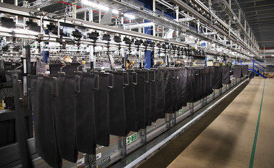 The automation system at boohoo group's main distribution hub in Burnley