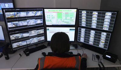 The control centre managing the automation system at boohoo group's main distribution hub in Burnley