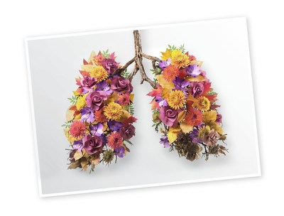 The floral lungs illustrate the progression of PF. (CNW Group/Boehringer Ingelheim (Canada) Ltd.)