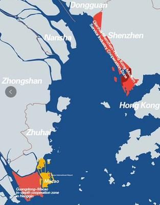 The Guangdong-Macao In-depth Cooperation Zone in Hengqin and the Qianhai Shenzhen-Hong Kong Modern Service Industry Cooperation Zone (Photo: Nanfang Metropolis Daily)